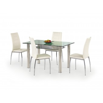 Lenart étkező asztal  Fém vázas étkező asztalok