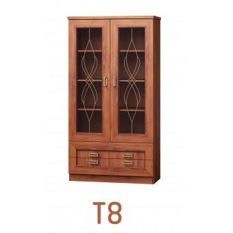 Tadeus (T8) álló vitrin  Tadeus tálaló szekrény