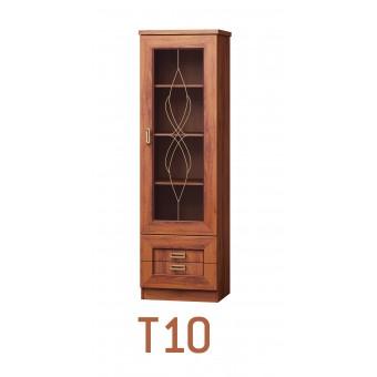 Tadeus (T10) álló vitrin  Tadeus tálaló szekrény