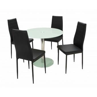 Geri 4 személyes étkező, Nina asztallal  Fém vázas étkezők 4 személyes étkező garnitúrák