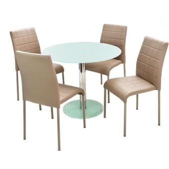 Kris 4 személyes étkező, Nina asztallal  Fém vázas étkezők 4 személyes étkező garnitúrák