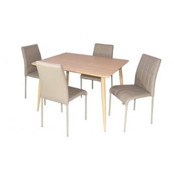 Kris 4 személyes étkező, Maya asztallal  Fém vázas étkezők 4 személyes étkező garnitúrák