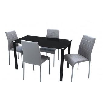 Kris 4 személyes étkező, Geri asztallal  Fém vázas étkezők 4 személyes étkező garnitúrák