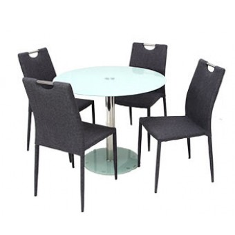 Szofi 4 személyes étkező, Nina asztallal  Fém vázas étkezők 4 személyes étkező garnitúrák