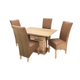 Pilat 4 személyes étkező, Claudia 120-as asztallal  4 személyes étkező garnitúrák