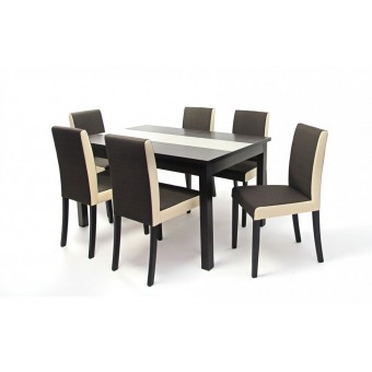 Kanzo, szövetes 6 személyes étkező, Irish asztallal  6 személyes étkező garnitúrák