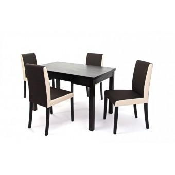 Kanzo, szövetes 4 személyes étkező, Berta 120-as asztalla  4 személyes étkező garnitúrák