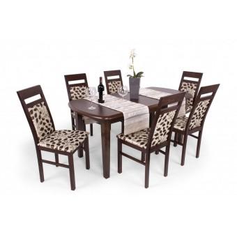 Léna 6 személyes étkező, Dante 160-as asztallal  6 személyes étkező garnitúrák