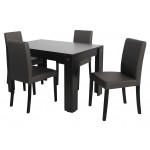 Kanzo étkezőgarnitúra, 4 személyes (Félix kis asztallal)  4 személyes étkező garnitúrák