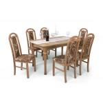 Piano 6 személyes étkező, Benita 170-es asztallal  6 személyes étkező garnitúrák
