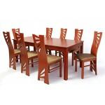 Stella 8 személyes étkező, Oregon max asztallal  8 személyes étkező garnitúrák