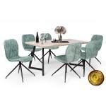 Amazon 6 személyes étkező, Caesar asztallal  6 személyes étkező garnitúrák Fém vázas étkezők