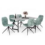 Amazon 6 személyes étkező, Caesar II asztallal  6 személyes étkező garnitúrák Fém vázas étkezők