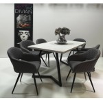 Cristal 6 személyes étkező, Caesar asztallal  6 személyes étkező garnitúrák