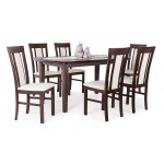 Milano 6 személyes étkező, Dante asztallal  6 személyes étkező garnitúrák